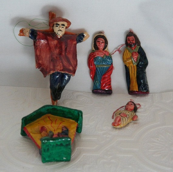 Vintage Religious Nativity Christmas Ornament: Items Similar To Vintage Ornaments / Christmas Nativity