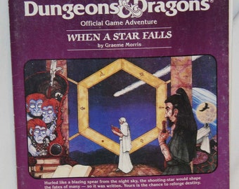 Vintage Book - Advanced Dungeons & Dragons UK4 When A Star Falls TSR 1984 - Adventure Book
