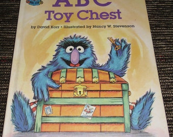 Vintage Book ABC Toy Chest Featuring the Muffets by David Korr Sesame Street Book Club 1981