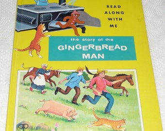 Vintage Childrens Book - The Story of the Gingerbread Man - Read Along With Me 1984 - Childrens Storybook