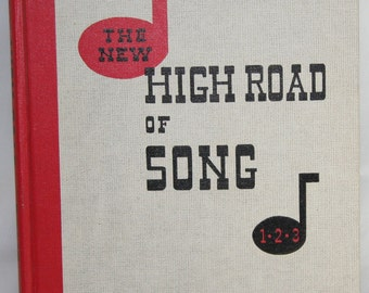 Vintage Music Book - The New High Road of Song 60s - Hardcover Teaching Book - Out of Print