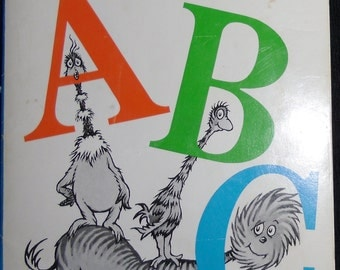 Vintage Childrens Book - Dr. Seuss's ABC - I Can Read It All By Myself Softcover 1988