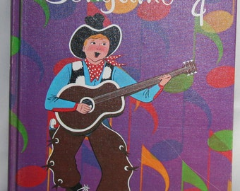 Vintage Childrens Book - Song Book for Children: Songtime 4 1963, Illustrated Music Book, Home School, Holt, Rinehart and Winston of Canada