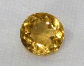 Citrine Faceted Round - 9.5mm Natural Faceted Gemstone Birthstone: LSCitrine9.5mmRound