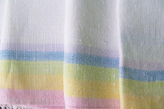 RESERVED FOR KIM-Vintage Linen Napkins Pastel  Colors