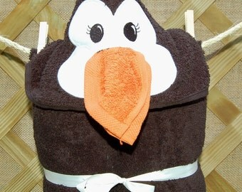 Penguin Hooded Towel Set