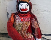 Hang Tag Doll - Soft Sculpture - Hand Embroidered OOAK Art Doll