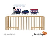 Nursery Wall Decals,Train Fabric Wall Decal, Small Train Sticker