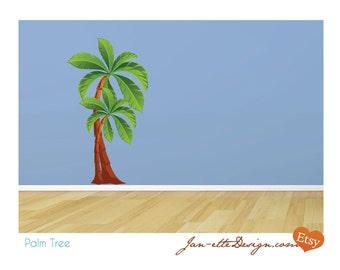 Large Palm Tree Fabric Wall Decal