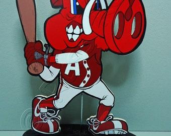 """Arkansas Razorbacks """"Big Red"""" Baseball - Shelf Sitter"""