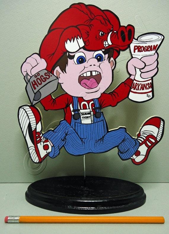 """Arkansas Razorbacks """"Big Red"""" Fan - Shelf Sitter"""