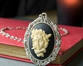 Cameo Necklace Dagger Knife Head Tattoo Inspired Pin Up Rockabilly Gore Old School