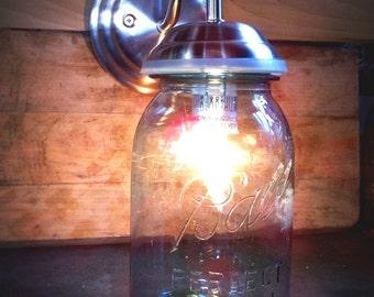 Mason Jar, Wall Sconce, Mason jar light