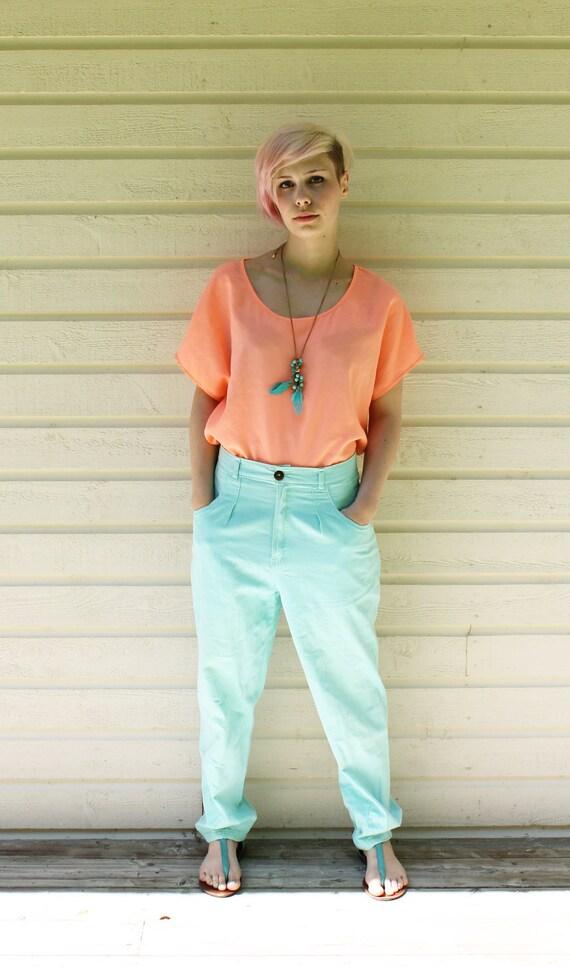 Vintage mint high waist pants