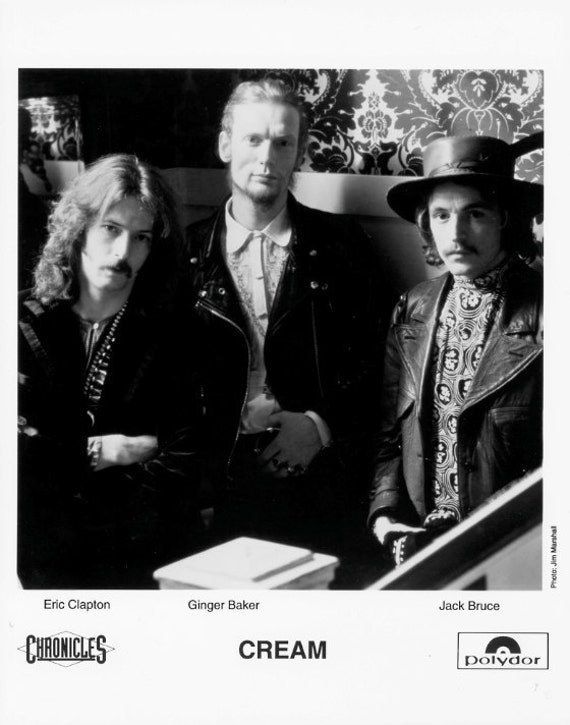 Cream Publicity Photo- 8 by 10 Inches.
