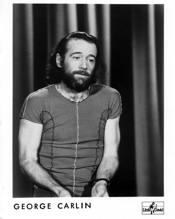 George Carlin Publicity Photo     8 by 10 Inches.