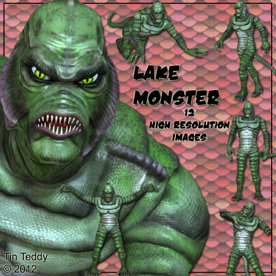 Lake Monster Digital Clip Art 12 Reptilian Images For Your