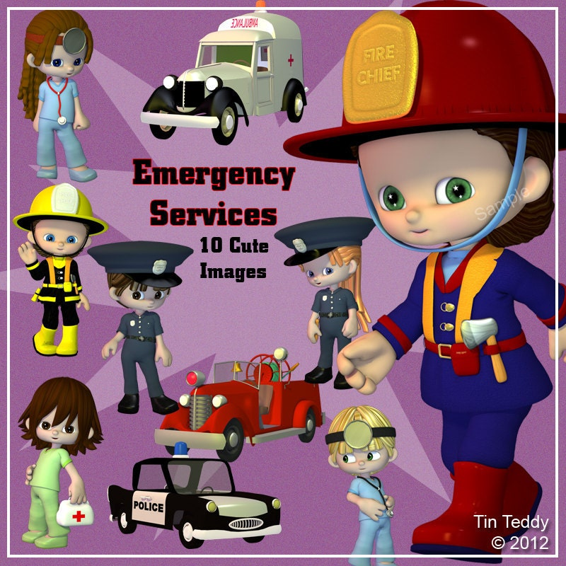 Emergency Services Digital Clip Art 10 Clipart Images of