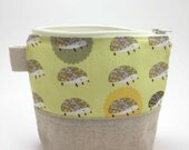 Reusable Snack Bag - Hedgehogs in Yellow - Outfoxed