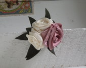 Fabric flower pin/clip