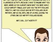 Blank Card - Sheldon's birthday rant.