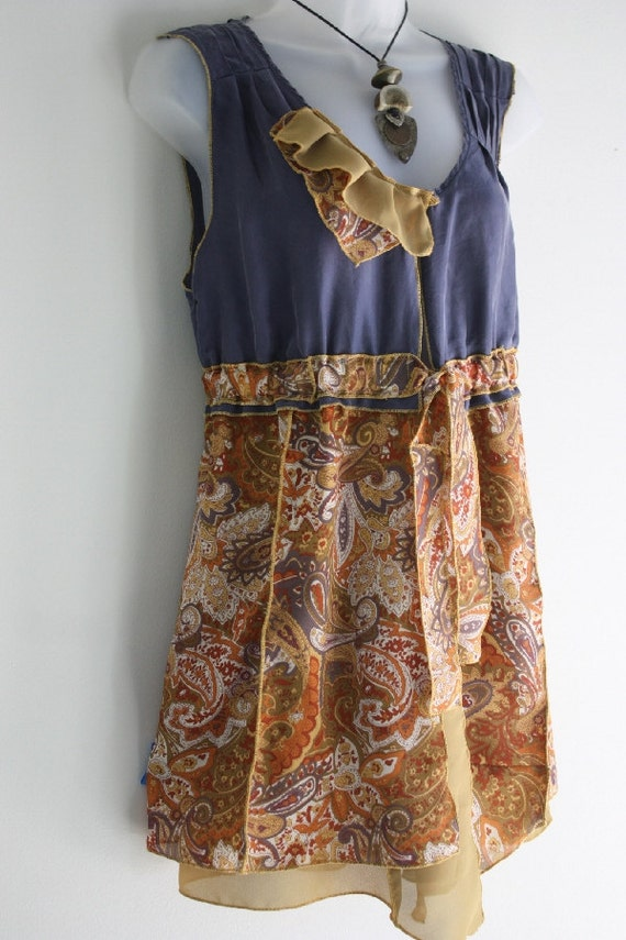 ON SALE!  Womens clothing, vest, tie front top, one of a kind, versatile, upcycled, sleeveless