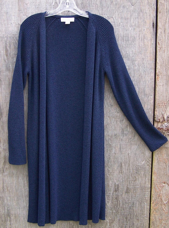 Sweater Coat Navy Blue Cardigan Cardi Womens Medium