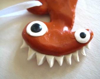 Crazy Hammerhead Shark Ornament - Ready to Ship