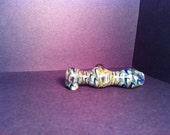 Small Cobalt Blue and Green Amber Purple Tobacco Pipes