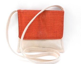 Small Shoulder or Crossover Bag Burnt Orange