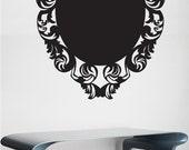 Floral Blackboard Vinyl Wall Sticker decal