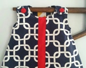 Nautical baby girl dress