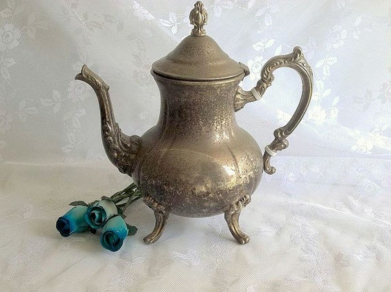 Vintage Towle Silverplate Teapot Silver Teapot Victorian