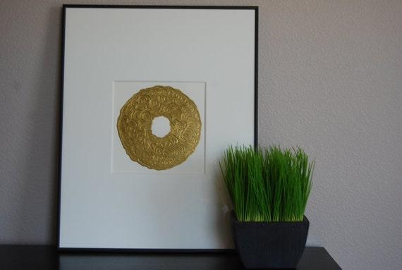 Matted Original Art 16x20 Total size Art Original Abstract painting - 8x8 art in 16x20 mat.  Modern Elegant Art for your home.