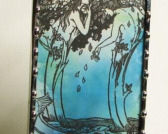 Art Nouveau Night Light, Nightlight Bookplate Art Illustration N56