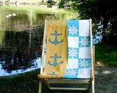 Nautical Sea Side Deck Chair Recliner Folding Timber Frame Bye Brytshi