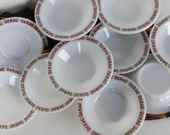 Anchor Hocking Anchorware Filigree Cafe Style Bowls Restaurantware Set of 10 Trending Vintage