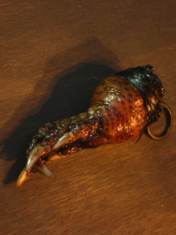 Taxidermy Armadillo Paw Keychain Throwing Up Horns Devil Foot Satanic Weird Crazy