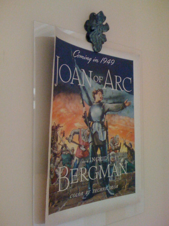 Rare Vintage 1940s Ad/ Movie Advertisement Joan Of Arc Ingrid Bergman Hollywood Promo Technicolor