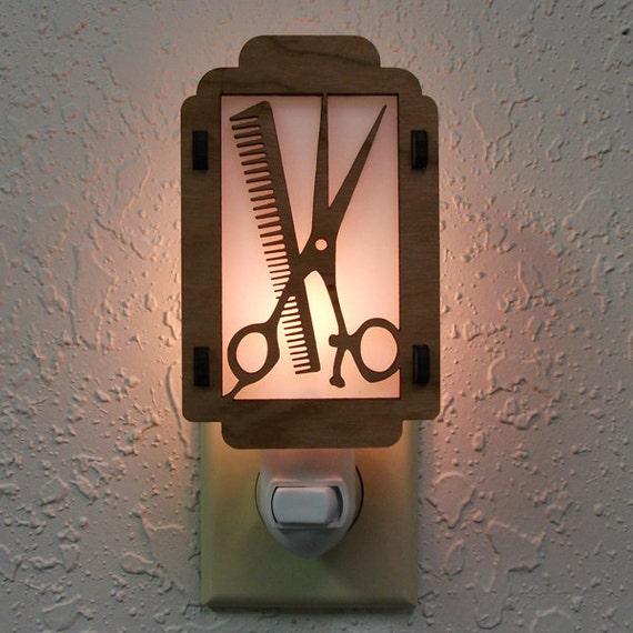 Comb and Scissors Night Light