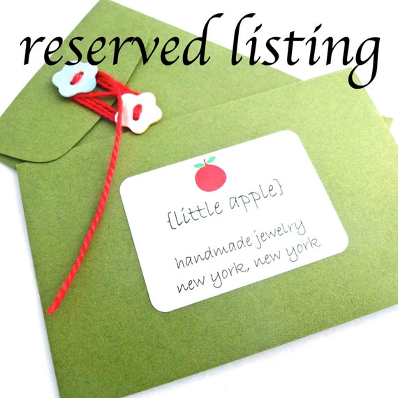 Reserved Listing---Set of Four Bridesmaids' Necklaces