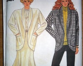 Misses Jacket Flared Gored Skirt and Pants Sewing Pattern Butterick 4049 Size 14 16 18