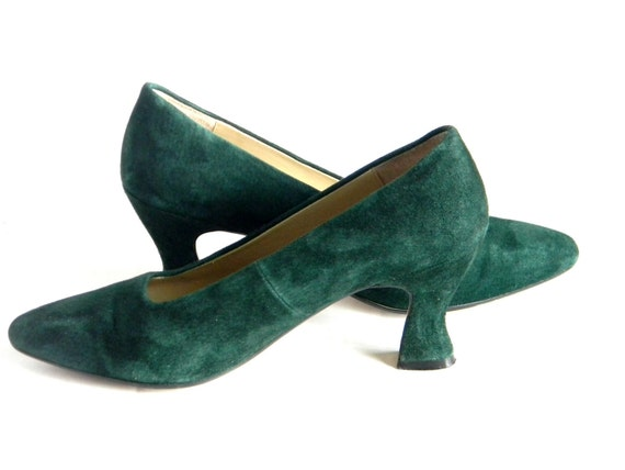 Green Emerald Shoes Size  Sale Heels