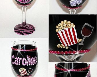 Girls' Night IN Hand-painted Wine Glass