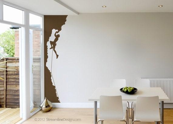 Rock Wall Home Decor : Rock climbing vinyl wall art decor ft tall style