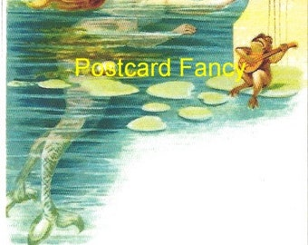 ENCHANTING Vintage MERMAID image from 1898, Postcard Reproduction