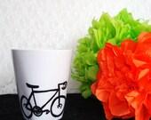 Hand Painted Bicycle Mug