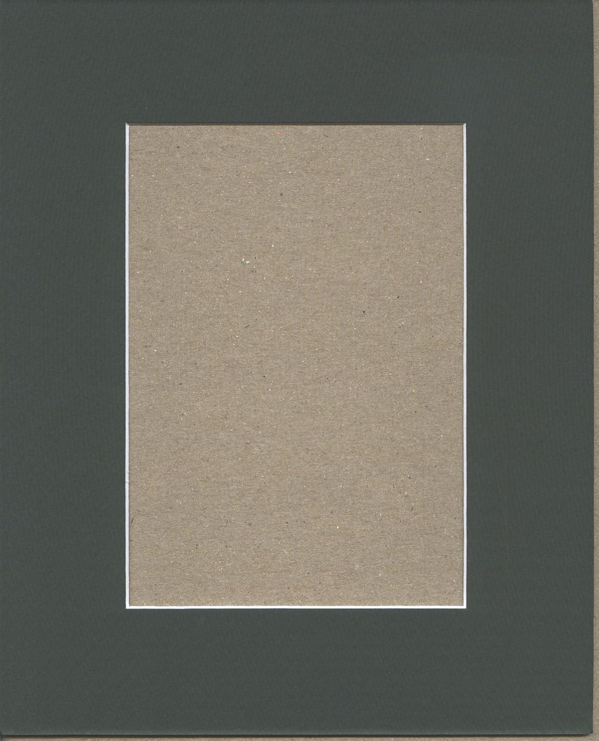 Package Of 5 16x20 Pine Green Mats With White Core Bevel