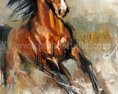 Horse Art, The Stallion Giclée, Painted Fine Art Print