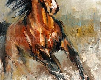 Horse Art, The Stallion Giclée, Painted Fine Art Print